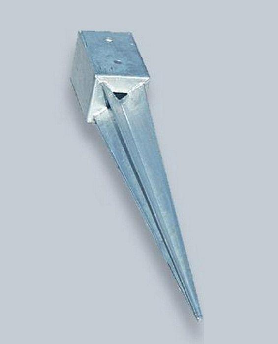 Kotwa podstawa słupka - szpic metalowy do kantówki