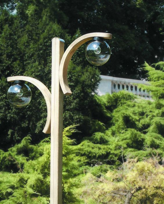 Lampa z dwoma łukami