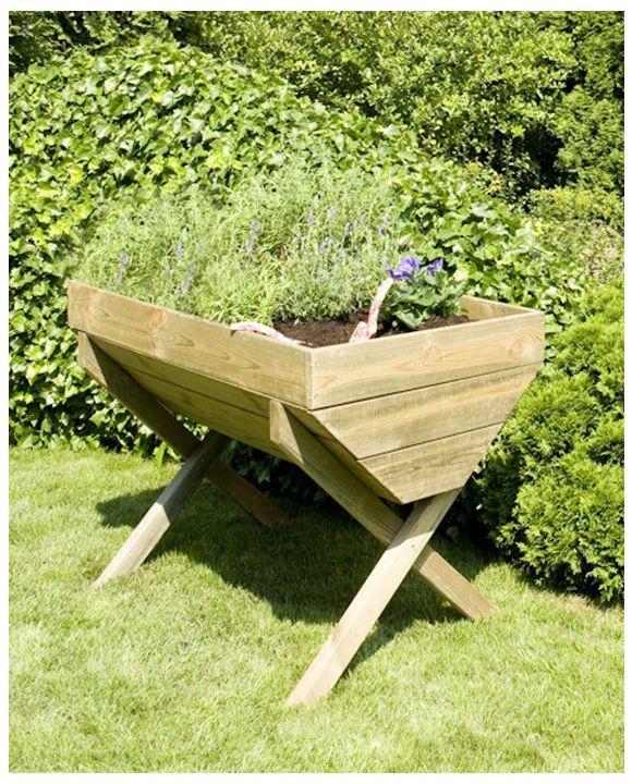 rozsadnik podwyższany, donica na nogach, drewniana,