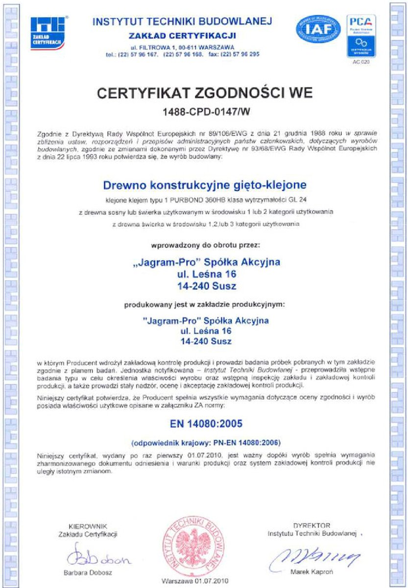 certyfikat GL-24